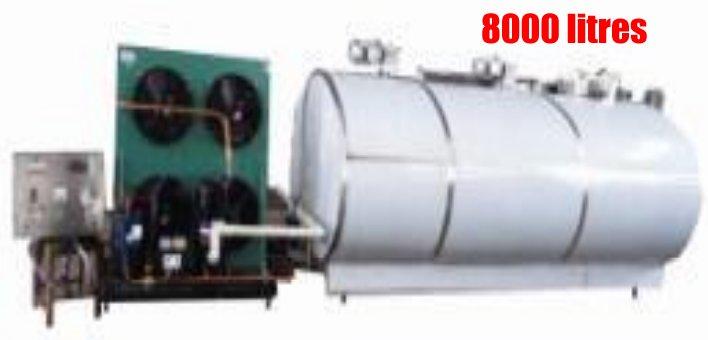 tank a lait de 8000 litres