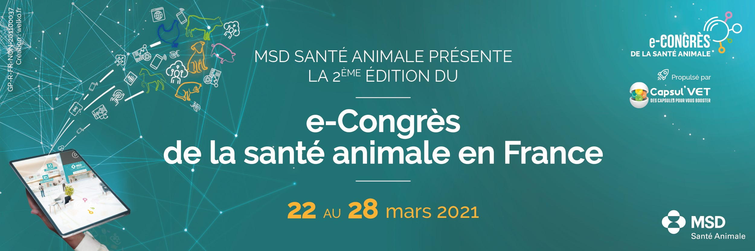 e-Congrès de la Santé Animale 2021 : ouverture des inscriptions !
