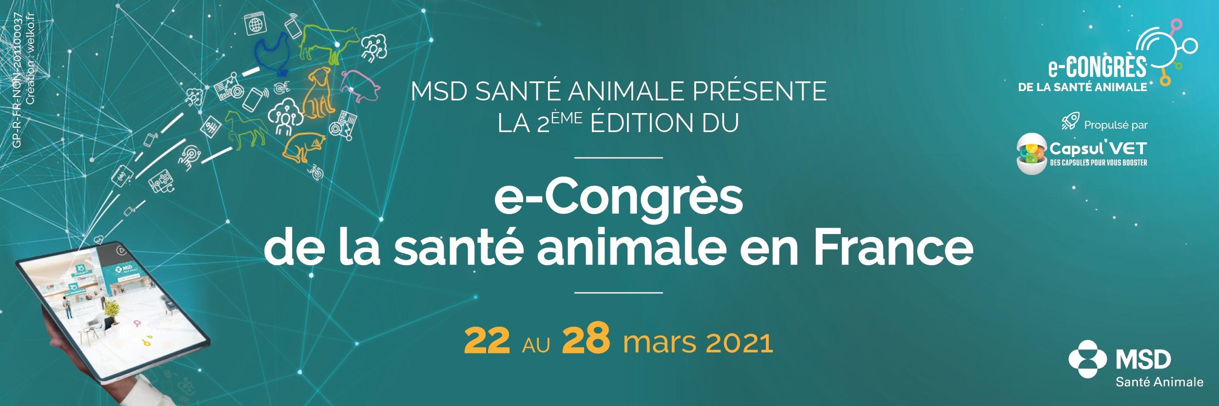 e-Congrès de la Santé Animale 2021: ouverture des inscriptions!