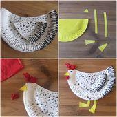Bricolage poule de Pâques maternelle : tutos détaillés
